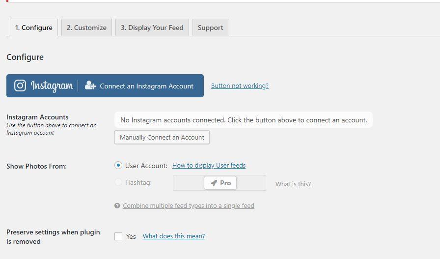 Collegare il CMS WordPress e il social Instagram