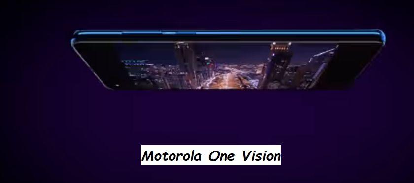 Motorola One Vision visto di profilo