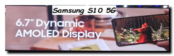 Cellulare Samsung S10 con tenoclogia rete 5G