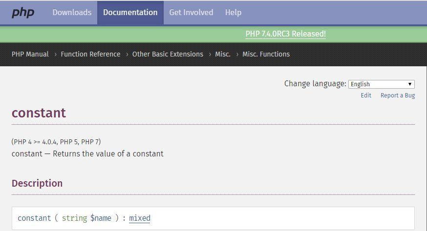 PHP Warning Constant Undefined come risolvere il problema del linguaggio PHP