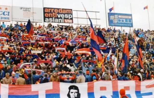 Un'immagine della Curva Sud del Ballarin nella stagione 1983-4