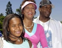 Bobby Brown Whitney Houston and daughter Bobbi in happier times