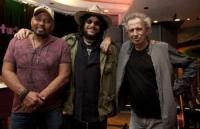 Keith Richards and Ivan Neville with Don Was