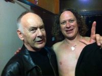 The Angels Chris Bailey backstage with Dave Gleeson