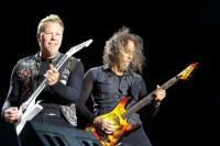James Hetfield and Kirk Hammett, Metallica, Soundwave 2013, Photo Ros O'Gorman