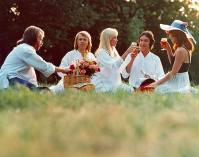 Robert Hughes with Abba in Abba The Movie