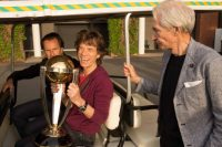Mick Jagger and Charlie Watts awarded Cricket Cup photo by International Cricket Council