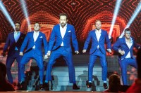 The Backstreet Boys perform at Rod Laver Arena Melbourne on Friday 8 May 2015. Photo Ros O'Gorman