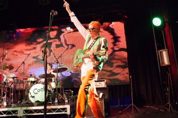 Ross Hannaford performs with Daddy Cool at the Age Music Victoria Awards on Thursday 19 November 2014. Photo by Ros O'Gorman