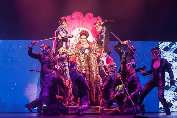 Casey Donovan as Killer Queen We Will Rock You Media Call at the Regent Theatre Melbourne on Thursday 1 September 2016. Photo Ros O'Gorman