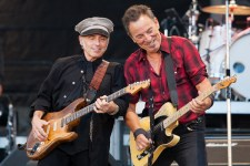Bruce Springsteen and Nils Lofgren perform at AAMI Park on Thursday 2 February 2017. Photo Ros O'Gorman