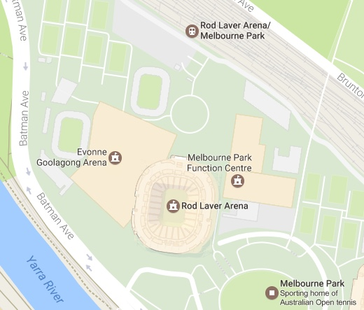 Google Maps renames Margaret Court Arena