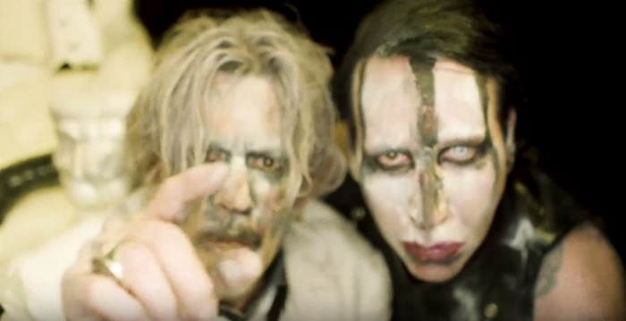 Watch Johnny Depp star in Marilyn Manson's gory new video for 'SAY10'