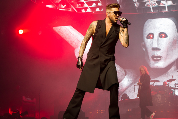 Singer Adam Lambert performs in Queen and Adam Lambert at Rod Laver Arena on Friday 2 March 2018. Photo by Ros O'Gorman
