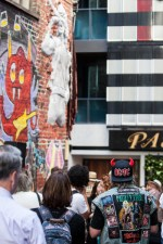 Bon Scott statue unveiling at AC/DC lane in Melbourne where Cherry Bar is located. Photo by Ros O'Gorman