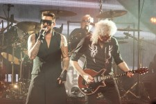 Queen and Adam Lambert perform at Rod Laver Arena on Friday 2 March 2018. Photo by Ros O'Gorman