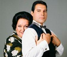 Montserrat Caballe and Freddie Mercury