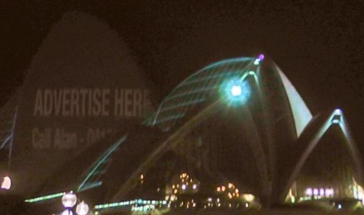 Protesters Used Spotlights To Disrupt Opera House Projections