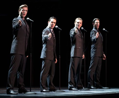 Jersey Boys Australian cast 2019 photo Jeff Busby