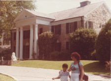 Jason Singh as a kid with his mum at Graceland
