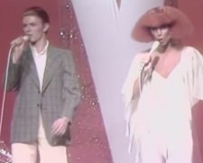David Bowie and Cher from The Cher Show 1975