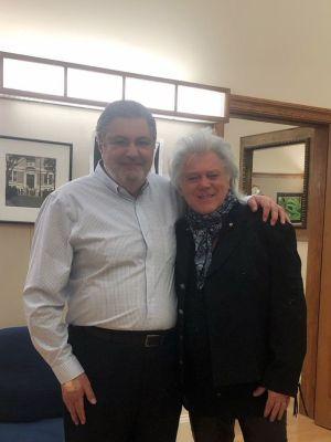 Marty Stuart with Nick Kontonicolas