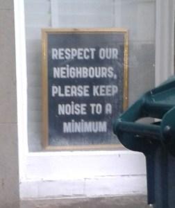 seen in a Brighton student rich neighbourhood