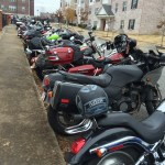 We had a few motorcycles show up.