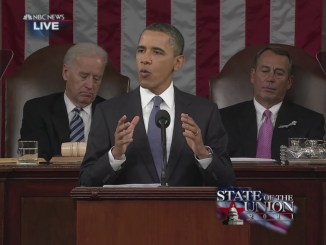 Obama gives his State of the Union speech in 2011