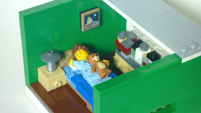 Lego sleep micro apartment