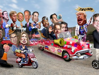2016 GOP Clown Car Donkey Hotey