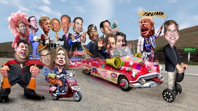 2016 GOP Clown Car Donkey Hotey