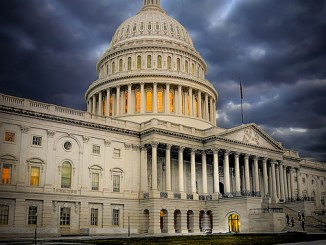 capitol dome storm clouds