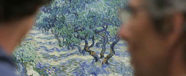 cavalletta van gogh olive trees