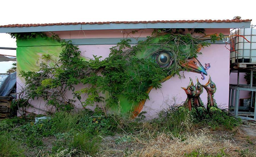 Mother Nature, Athens Greece 2013 di WD Street Art - Street Art
