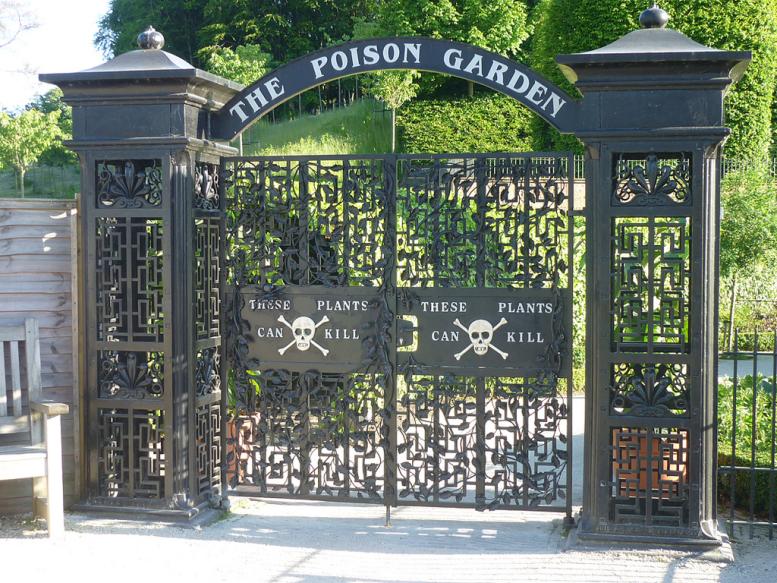 poison garden il cancello d'ingresso del giardino dei veleni di alnwick