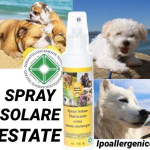 spray solare per cani