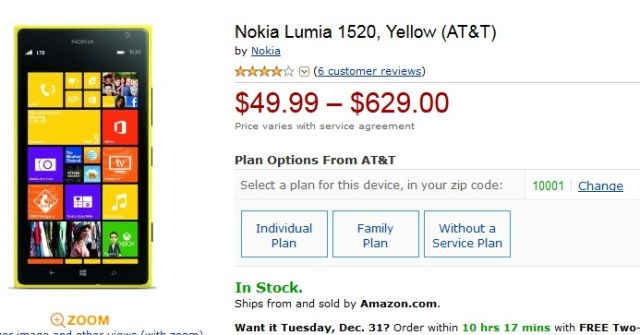Amazon Lumia 1520