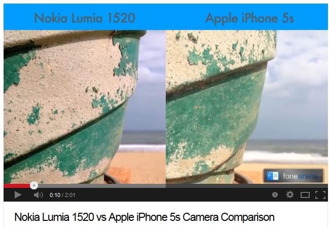 Lumia 1520 vs iPhone 5S