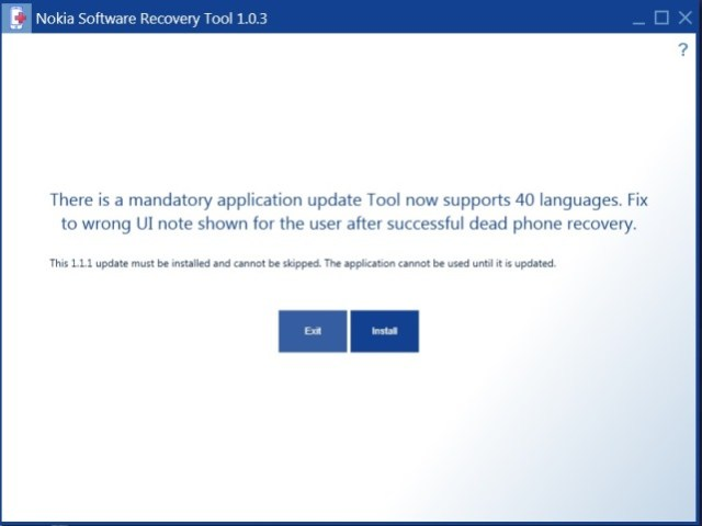 Recovery tool update1