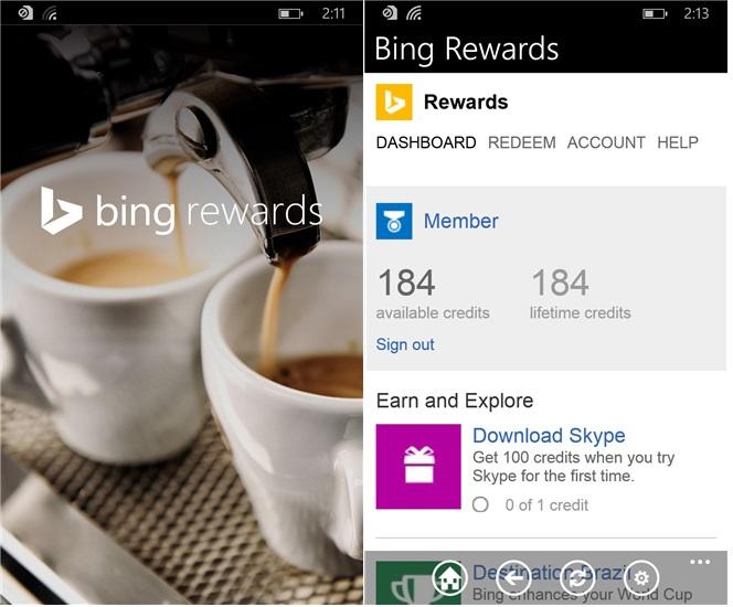 Bing rewards