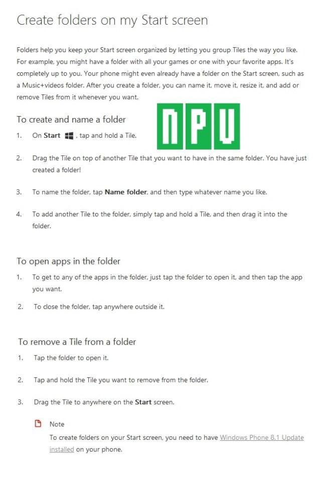 WP8.1 create folder