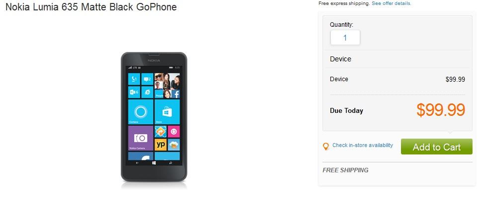 Lumia 635 att