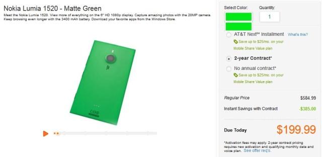 Lumia 1520 Green