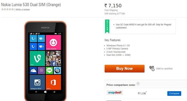 Lumia 530 dual-sim