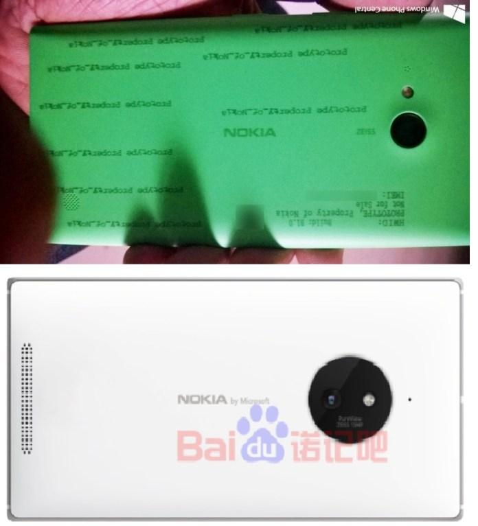 Lumia 730 vs Lumia 830 back