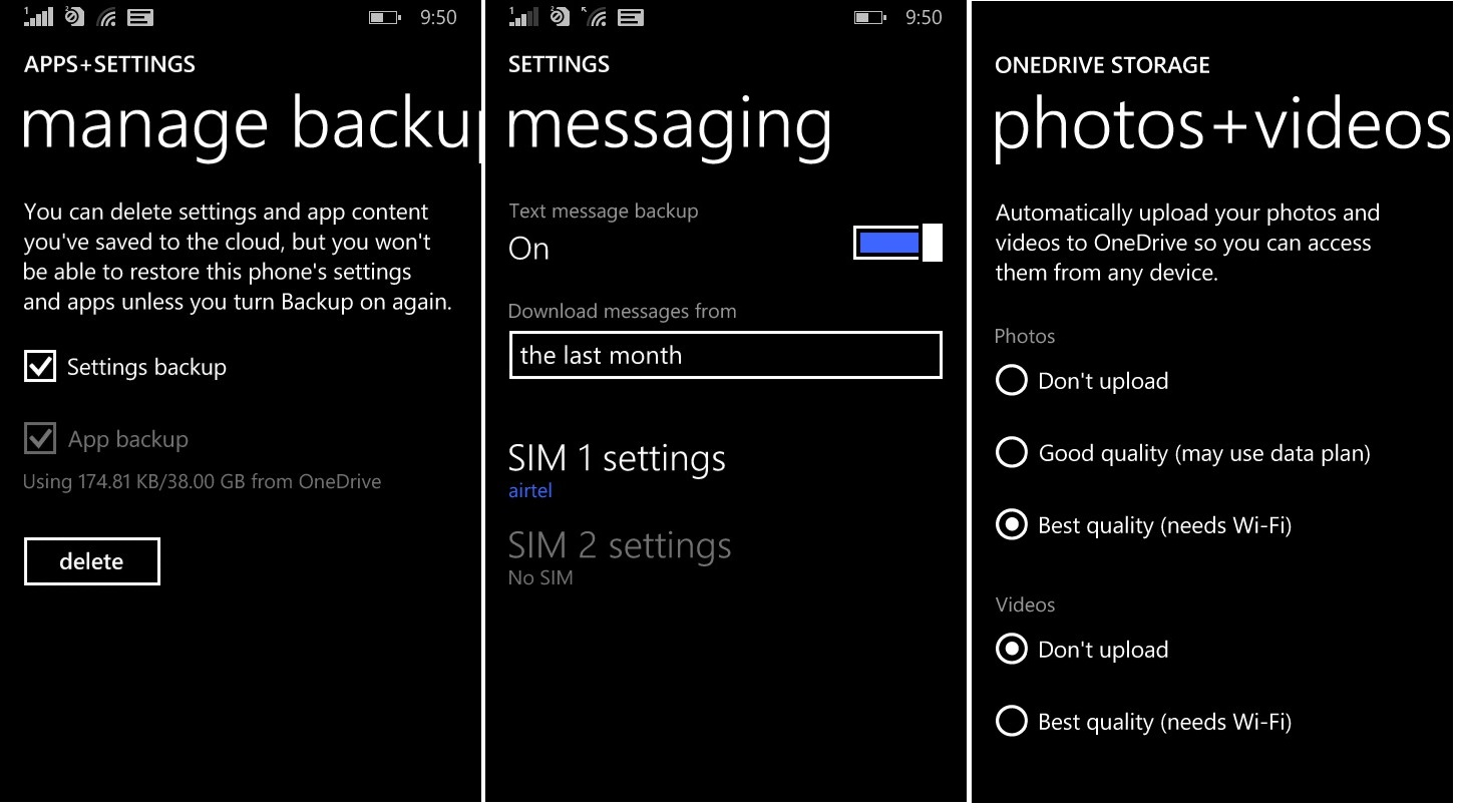 windows phone backup 2 backup frequency and manual option apps settings