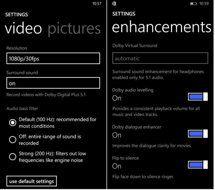 Lumia 830 dolby