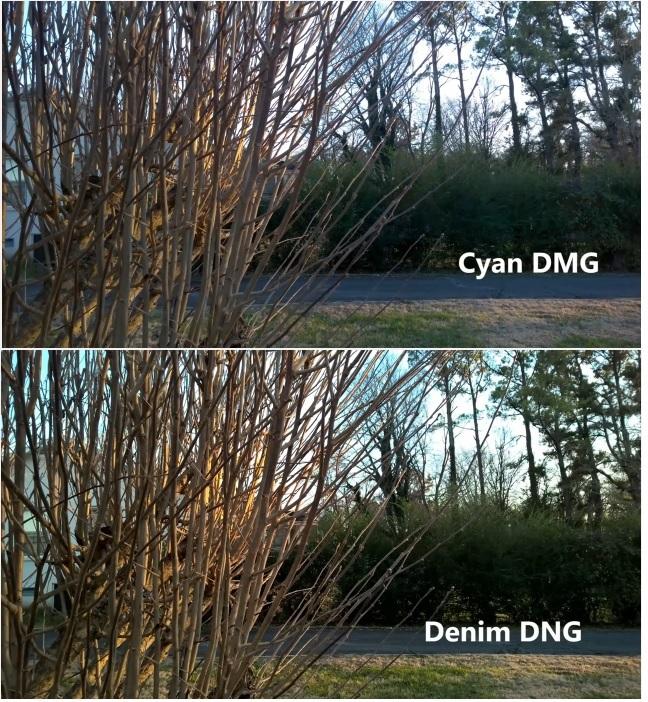 Cyan vs Denim