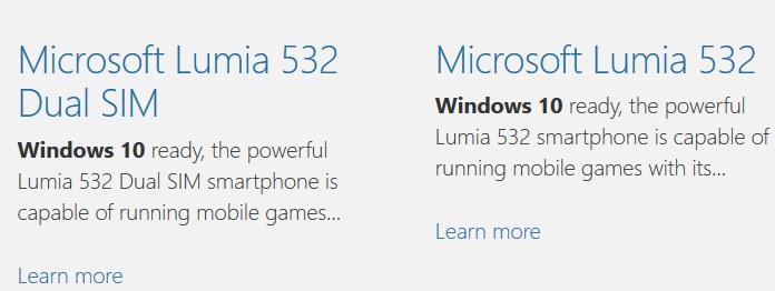 Windows 10 Lumia 532
